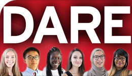 Photo illustration of DARE and students